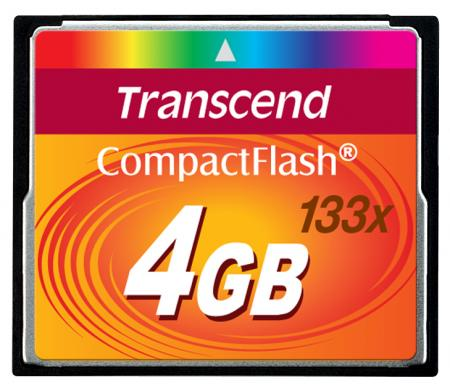 Transcend CompactFlash 4 GB 133x