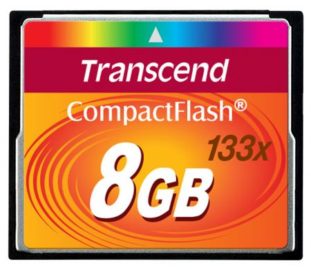 Transcend CompactFlash 8 GB 133x